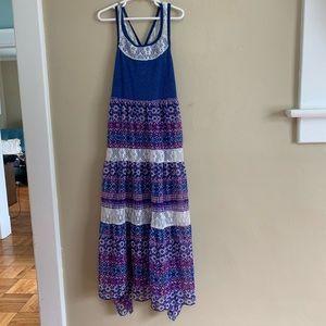 Iris & Ivy Girly Tiered Lace Detail Sun Dress, 10